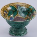 No.42 色絵牡丹図台鉢