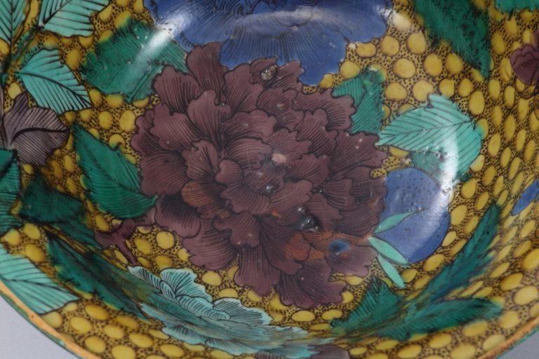 No.42 色絵牡丹図台鉢_04