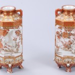 No.54 赤絵彩色人物図花瓶