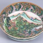 No.5 色絵楼閣山水図鉢