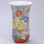 No.58 色絵菊図花瓶