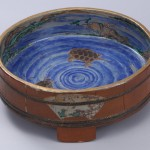 No.60 色絵山水亀図馬盥形水盤