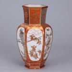No.11 赤絵金彩割取図花瓶