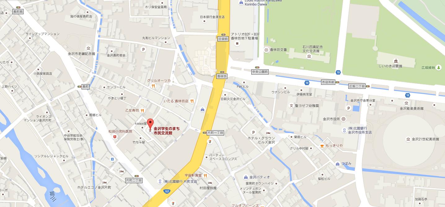 金沢学生のまち市民交流館_地図