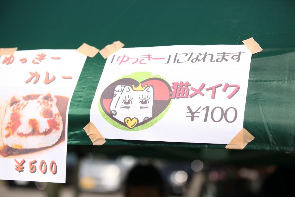 猫メイク100円